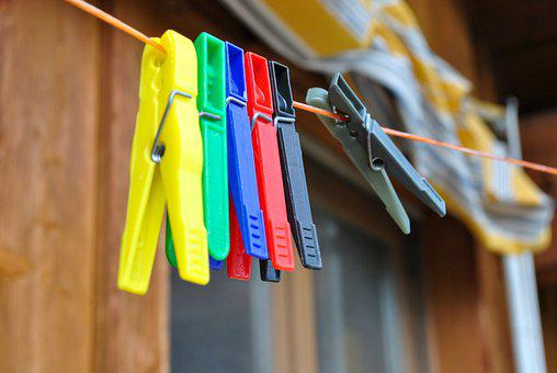 Summer, Clothespins, Laundry, Dry, Rope, Clothes Peg