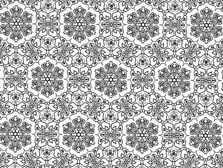 Symmetrical, Pattern, Seamless, Floral, Geometric