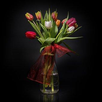 Tulips, Flowers, Vase, Centerpiece, Spring, Plants