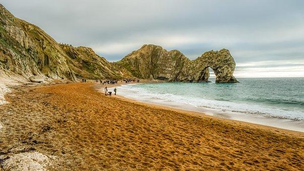 Beach, Ocean, Coast, Arch, Rocks, Sea, Bay, Durdle Door