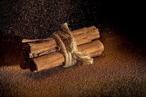 Cinnamon, Sprinkles, On Black, Christmas, Scented