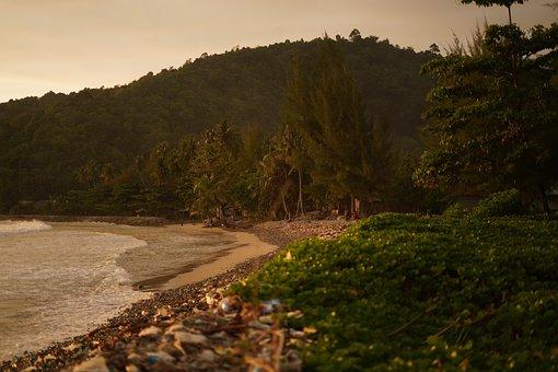 Beach, Island, Shore, Coast, Sunset, Travel, Nature