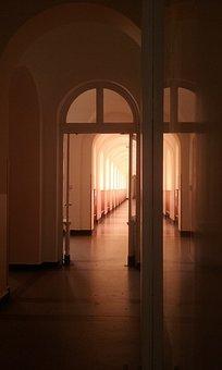 Corridor, Shadow, Hallway, Architecture, Dark, Building