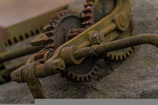 Gear, Machine, Metal, Old Technology, Detail