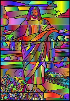 Jesus, Christ, Stained Glass, Divine, Faith, God, Holy