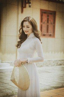 Fashion, Ao Dai, Woman, Model, Girl, Female, Young