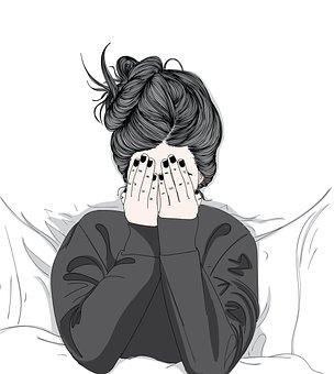 Woman, Sleepy, Bed, Girl, Person, Gesture, Awake