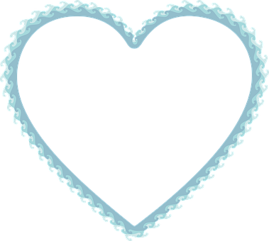 Waves, Heart, Love, Frame, Border, Water, Ocean, Sea