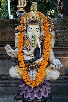 Ganesha, Elephant, Hinduism, India, Hindu, Religion