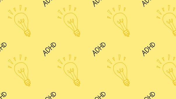 Light Bulb, Idea, Pattern, Adhd, Mental Health
