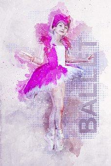 Ballet, Girl, Photo Art, Ballerina, Young, Kid, Child