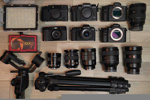 Cameras, Lenses, Tripod, Lighting, Gears, Camera Gears