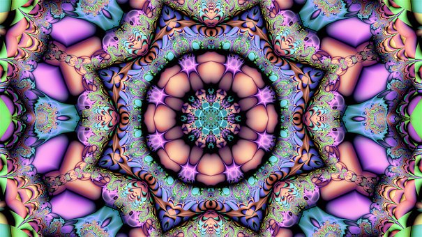 Fractal, Abstract, Mandala, Geometry, Design, Desktop