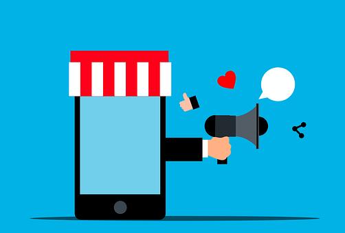 Megaphone, Hand, Marketing, Promotion, Digital
