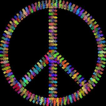 Peace Sign, Clef, Colorful, Music, Peace, Peace Symbol