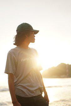 Man, Beach, Sunset, Person, Male, Model, Travel, Nature