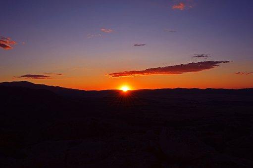 Sunset, Horizon, Evening, Nature, Travel, Scenery