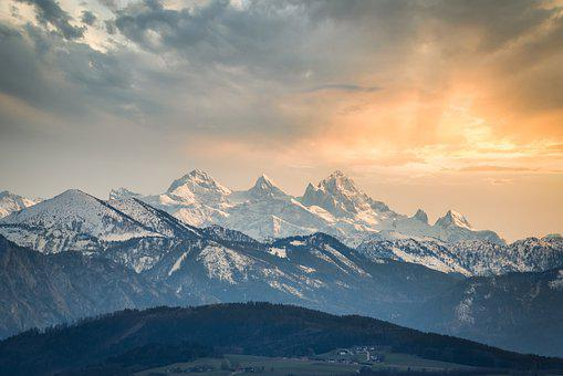 Mountains, Snow, Sunset, Snow Capped, Peak, Summit