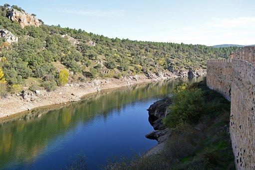 River, Hills, Trees, Forest, Vegetation, Region, Nature