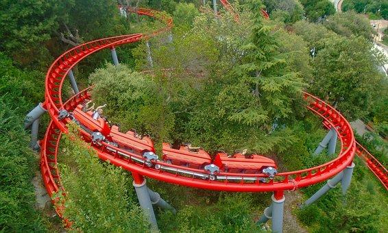 Roller Coaster, Amusement Park, Fun, Ride