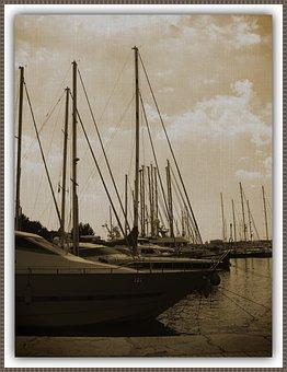 Boat, Sailboat, Mar, Frame, Texture, Ocean, Nautical