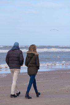 Couple, Beach, Fit, Walk On The Beach, Sea, Sand, Air