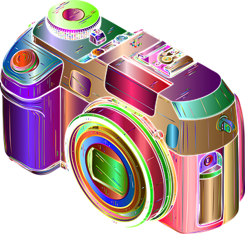 Camera, Photography, Colorful, Lens, Shutter, Device