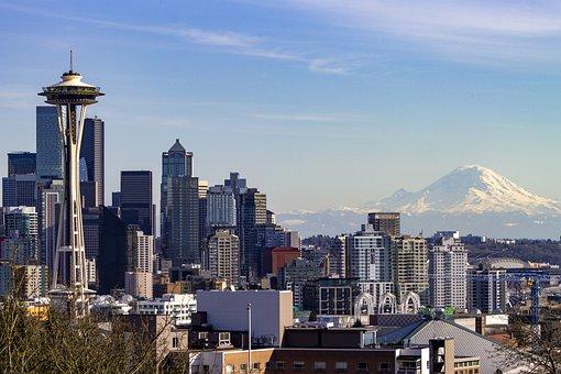 Seattle, Space Needle, Skyline, Skyscrapers, Washington