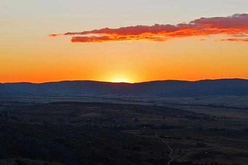 Sunset, Clouds, Sky, Horizon, Region, Europe, Spain