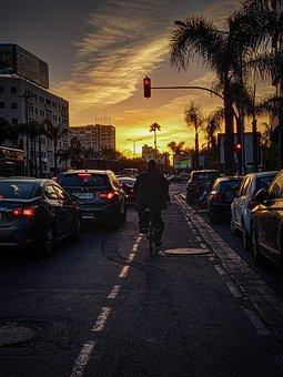Streets, Hello, City, Cars, Lightning, Africa