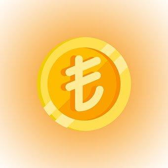 Turkish Lira, Coin, Symbol, Lira, Money, Currency