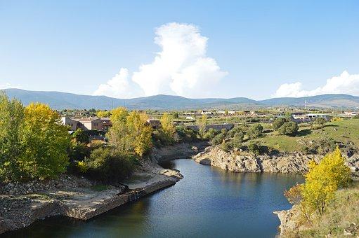 River, Houses, Trees, Region, Travel, Visit