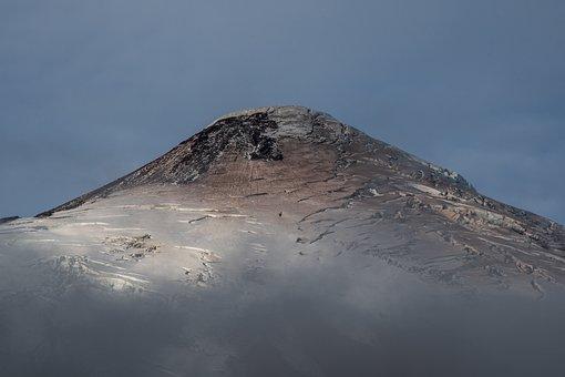 Vulcano, Snow, Horizon, Nature, Covered, Sunny