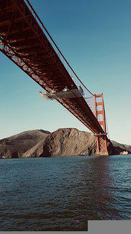 Bridge, Water, City, Architecture, Usa, Travel