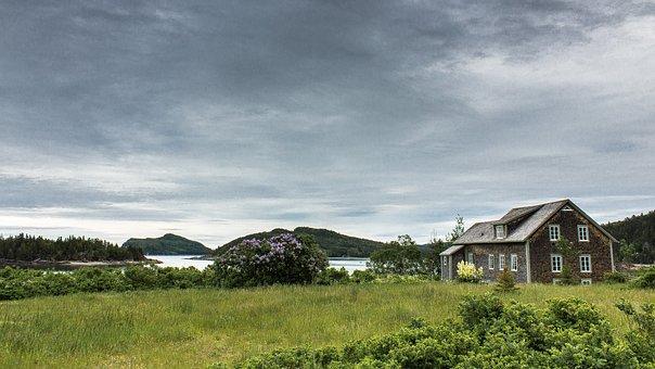 House, Landscape, Nature, Field, Building, Wood