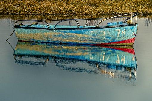 Boat, River, Fishing, Fishing Boat, Wooden Boat