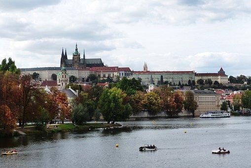 Prague, City, Architecture, Castle, River, Europe