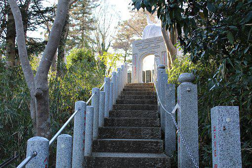Temple, Shrine, Japan, Stairs, Stairway, Asia, Shinto