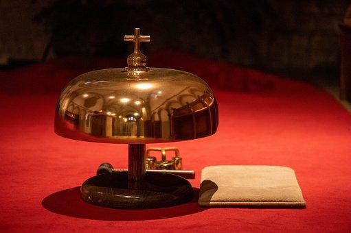 Bell, Carpet, Church, Cross, Metal, Rubber Mallet