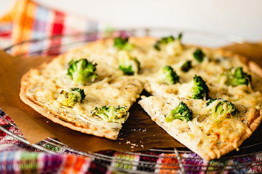 Pizza, Tarte Flambee, Broccoli, Cheese, Vegetables
