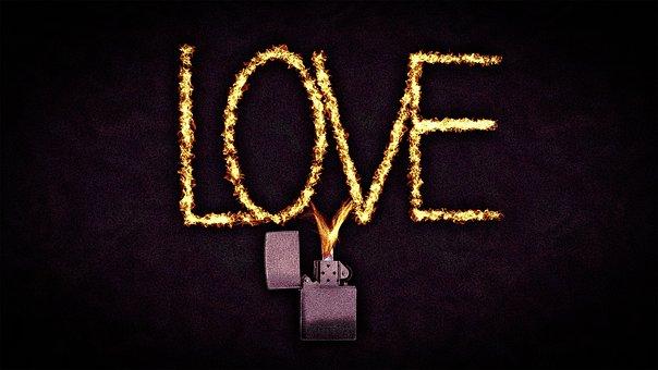 Fire, Lighter, Love, Dark, Romantic, Light, Chaos