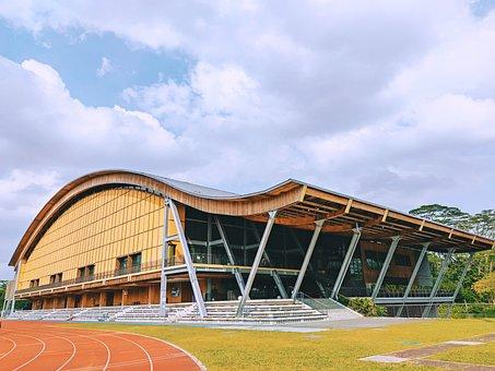 Building, Sports Hall, Running Track, Field, Track