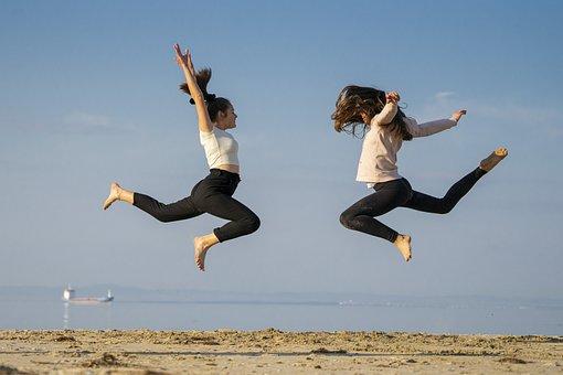 Girls, Friends, Happy, Happiness, Freedom, Joy, Fun