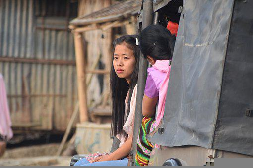 Girl, Tribal, Northeast India, Sad, Lonely, People
