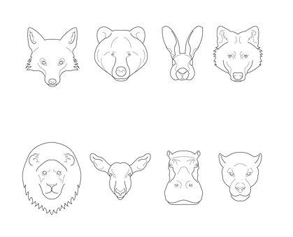 Animals, Illustration, Vector, Design, Icons, Icon, Fox
