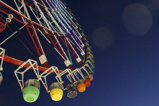 Ferris Wheel, Wheel, Ride, Japan, Attraction, Fun