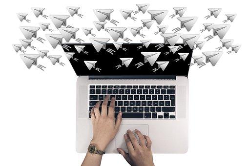 Laptop, Keyboard, Hands, Telegram, Smartphone, Phone