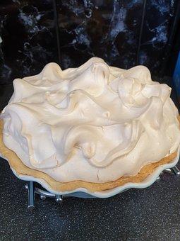 Meringue, Pie, Pastry, Baked, Lemon Pie, Homemade