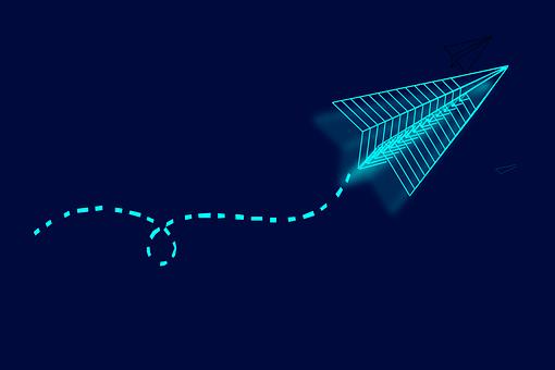 Luminous Flying Rocket, Abstract, Illustrated, Pattern