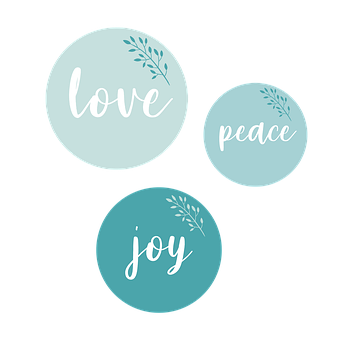 Love, Peace, Joy, Positive, Happy, Cheerful, Smile